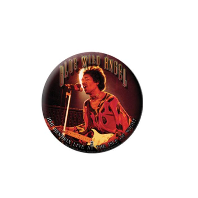 Jimi Hendrix Blue Wild Angel Round Magnet