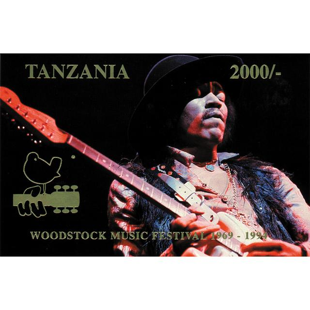 Jimi Hendrix Tanzania Woodstock 25th Anniversary Stamp