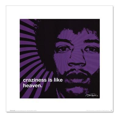 Jimi Hendrix Craziness Art Print