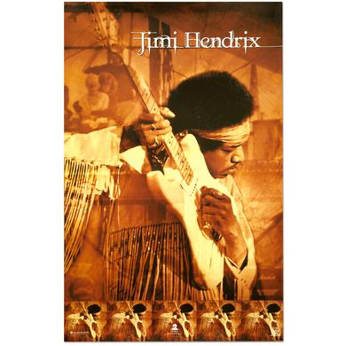 Jimi Hendrix Live At Woodstock Poster
