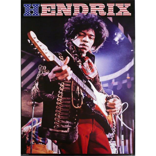 Jimi Hendrix Stars & Stripes Poster
