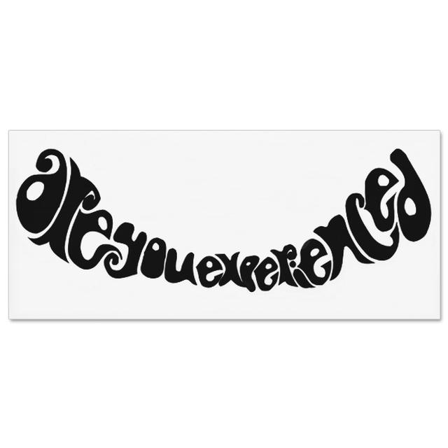 Jimi Hendrix Rub On Are You Experienced Sticker (Black)