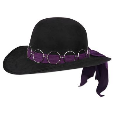 Jimi Hendrix Black Costume Hat