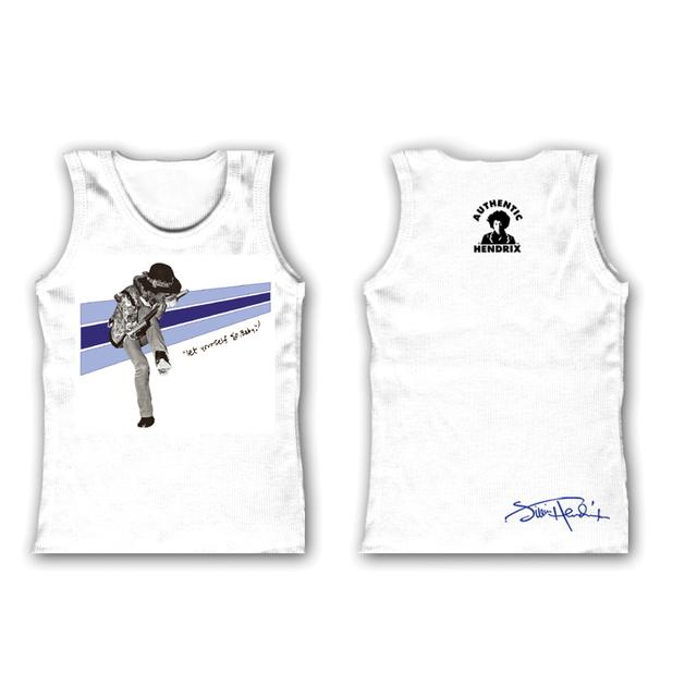 Jimi Hendrix Kiss The Sky Infant White Tank Top