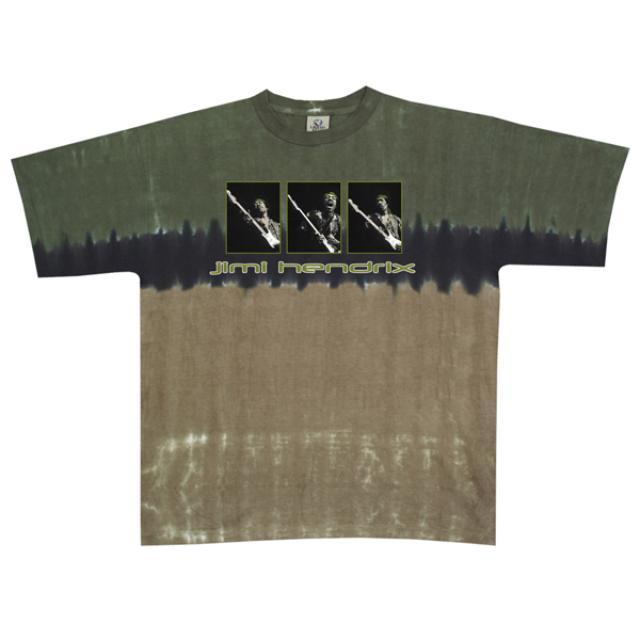 Jimi Hendrix Triptych Tie-Dyed T-Shirt