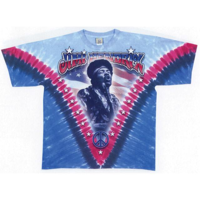 Jimi Hendrix Flag Tie-Dyed T-Shirt