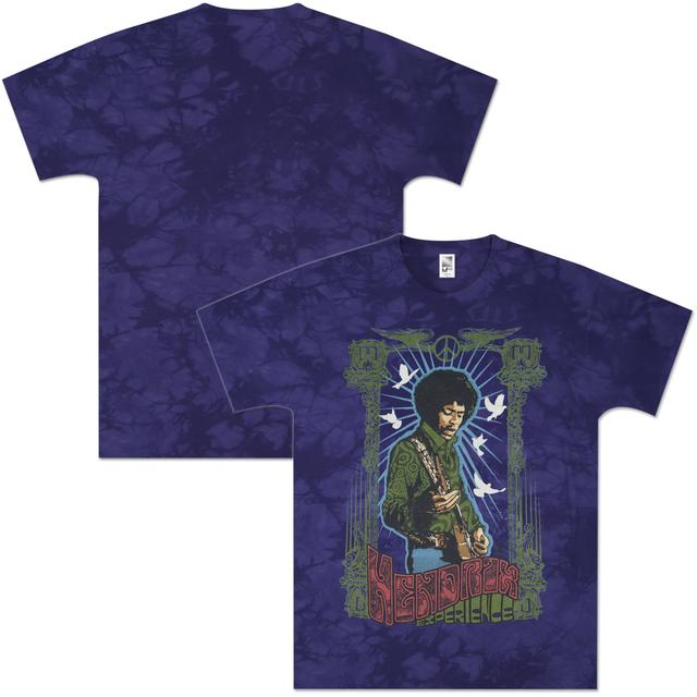 Jimi Hendrix Little Wing Tie-Dyed T-Shirt