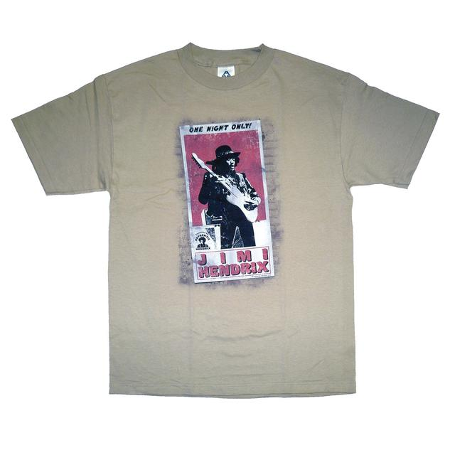 Jimi Hendrix One Night Only Poster T-Shirt
