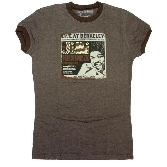 Jimi Hendrix Hendrix Live At Berkeley Ladies Ringer T-Shirt