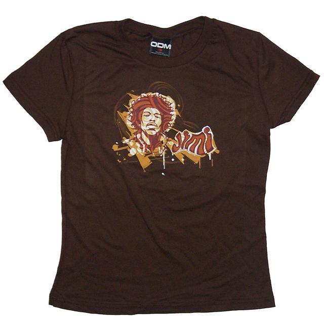 "Jimi Hendrix Hendrix Groovy ""Jimi"" Babydoll T-Shirt"