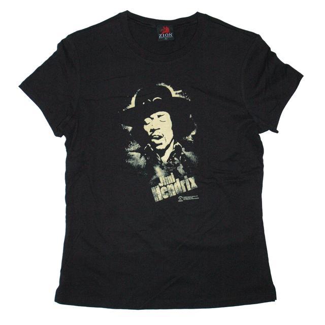 Jimi Hendrix Hendrix Stencil Ladies T-Shirt
