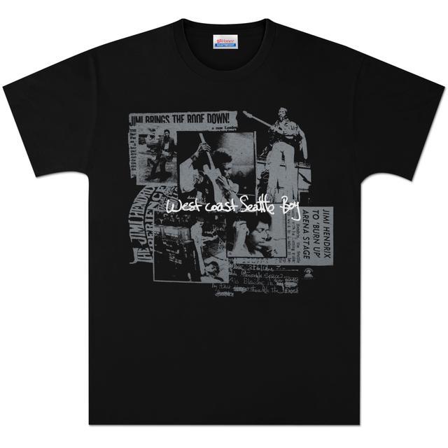 Jimi Hendrix Seattle Boy T-Shirt - Silver