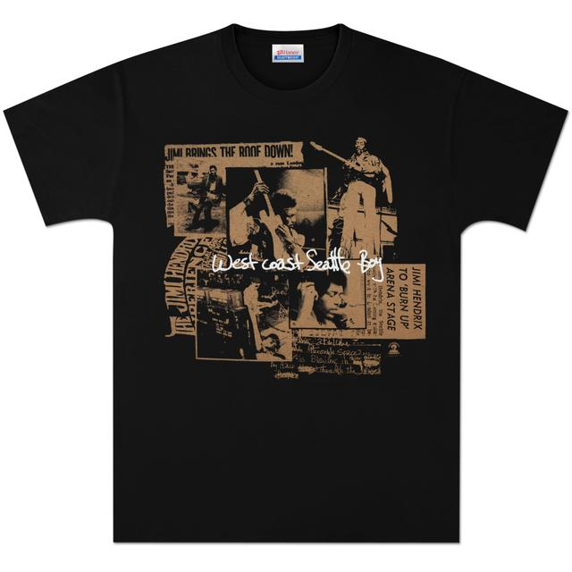 Jimi Hendrix Seattle Boy T-Shirt - Gold