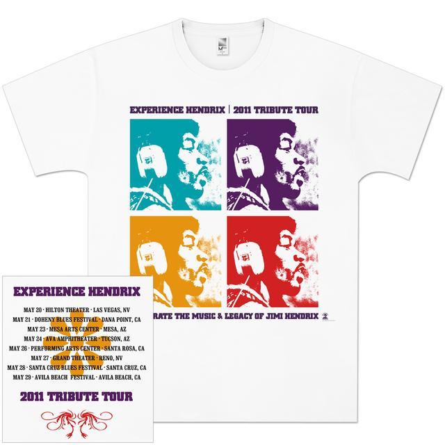 Jimi Hendrix Experience Hendrix 2011 Tour Quads T-Shirt