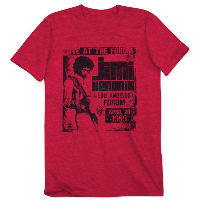 Jimi Hendrix Live at the Los Angeles Forum 1969 T-shirt