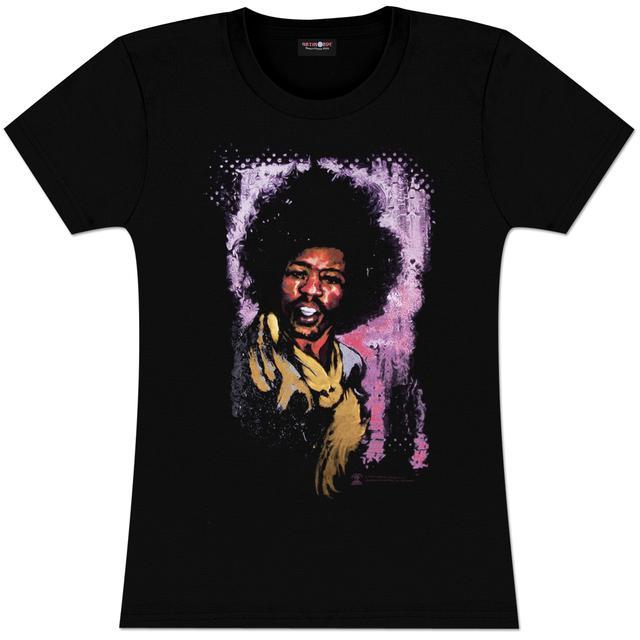 Jimi Hendrix Hendrix Watercolor Portrait Ladies T-Shirt