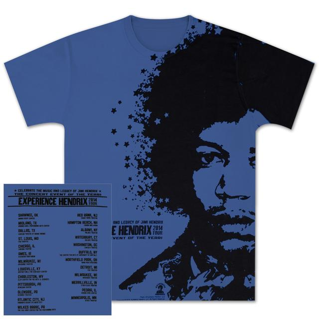 Jimi Hendrix Experience Hendrix 2014 Denim Blue Men's T-Shirt