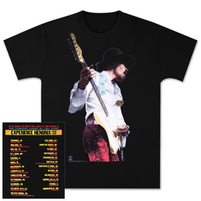 Jimi Hendrix Experience Hendrix 2014 Black T-Shirt (Miami Pop Design)
