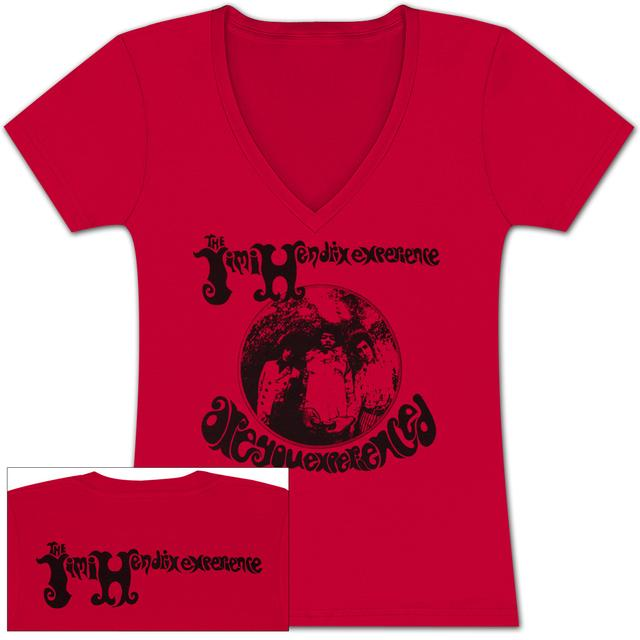 "Jimi Hendrix Hendrix ""Are You Experienced?"" Ladies V-Neck T-Shirt"