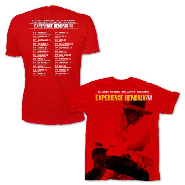 Jimi Hendrix Experience Hendrix 2014 Tour Schedule Tee