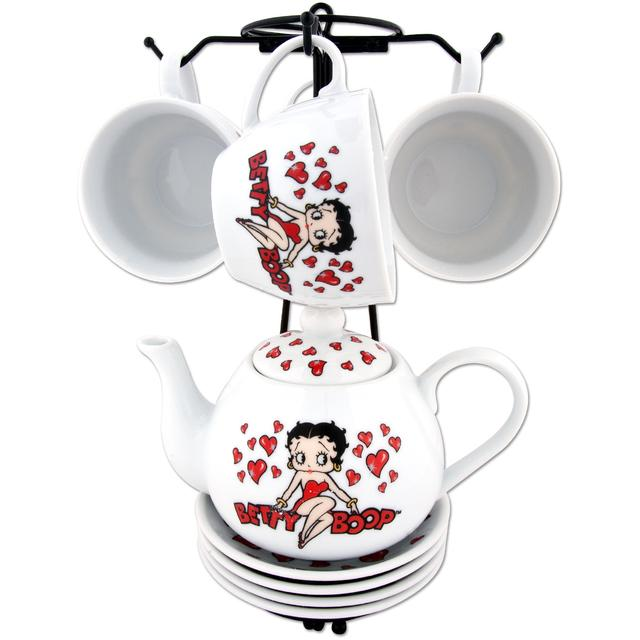 Betty Boop Hearts Tea Set with Stand