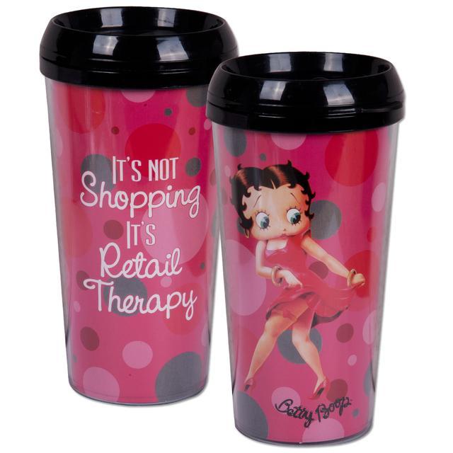 Betty Boop 16oz Plastic Travel Mug
