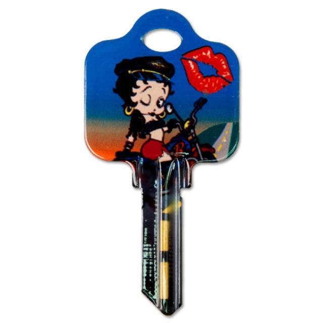 Betty Boop Biker Schlage House Key