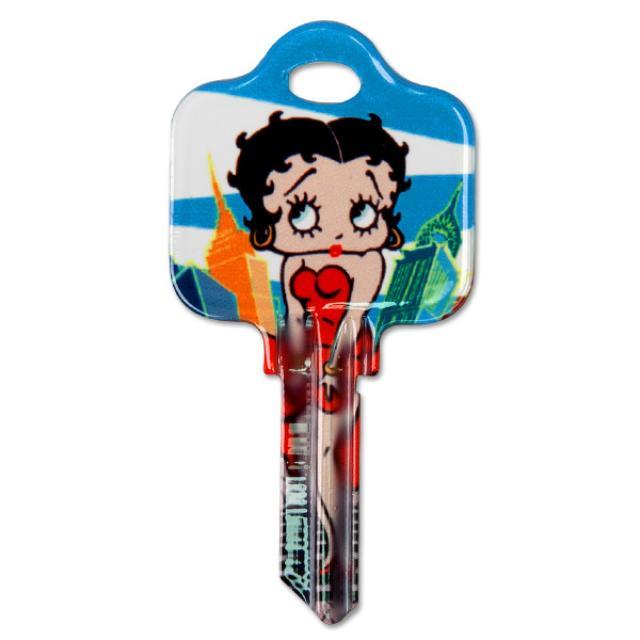 Betty Boop In New York Schlage House Key