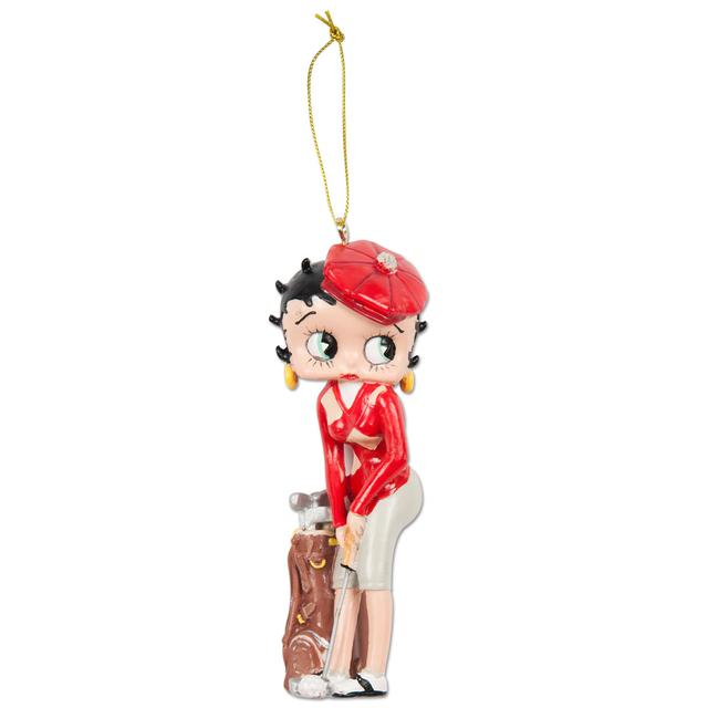 Betty Boop Golfer Ornament