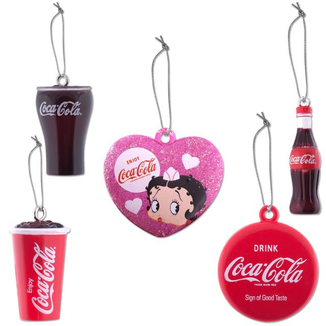 Betty Boop Coca-Cola Mini Ornament Set of 5