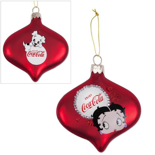 Betty Boop Coca-Cola Glass Ornament