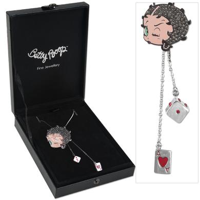 Betty Boop Winking Charm Necklace