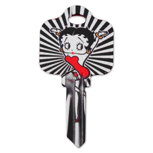 Betty Boop Glitter Schlage House Key
