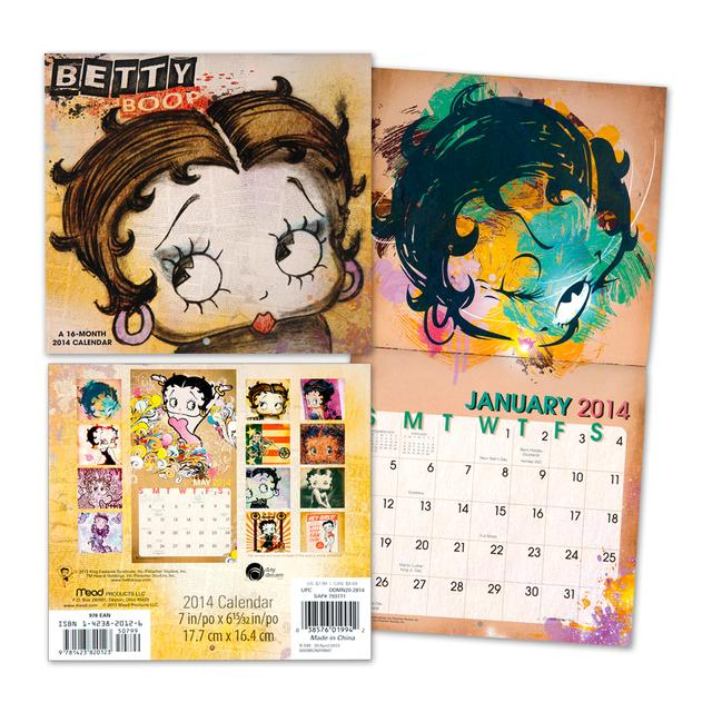 Betty Boop 2014 Mini Wall Calendar