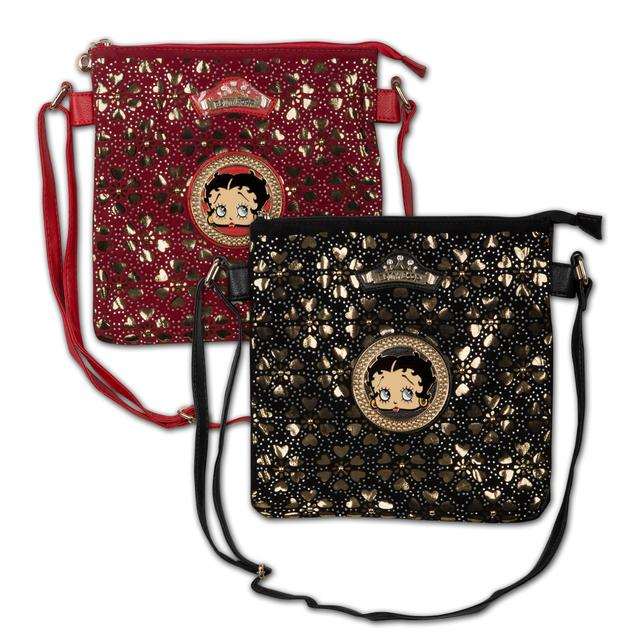 Betty Boop Hand Bag Circled with Sparkling Rhinestones