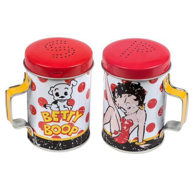 Betty Boop - Betty & Pudgy Tin Salt & Pepper Shaker