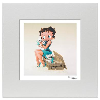 Betty Boop Puppies 8inch x 8inch Print