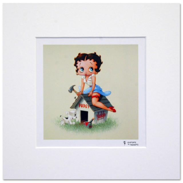 Betty Boop Dog House 8inch x 8inch Print