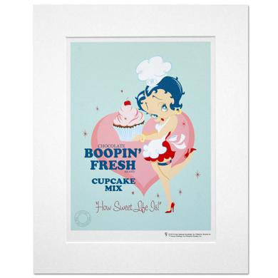 Betty Boop Cupcakes 14inch x 11inch Print