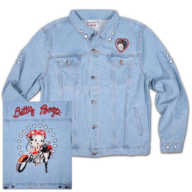 Betty Boop Biker Denim Jean Jacket