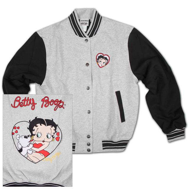 Betty Boop and Pudgy Baseball Jacket