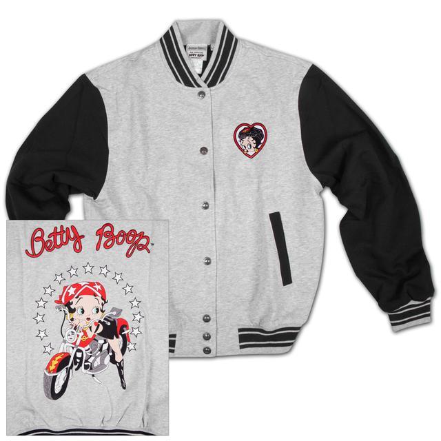 Betty Boop Biker Baseball Jacket