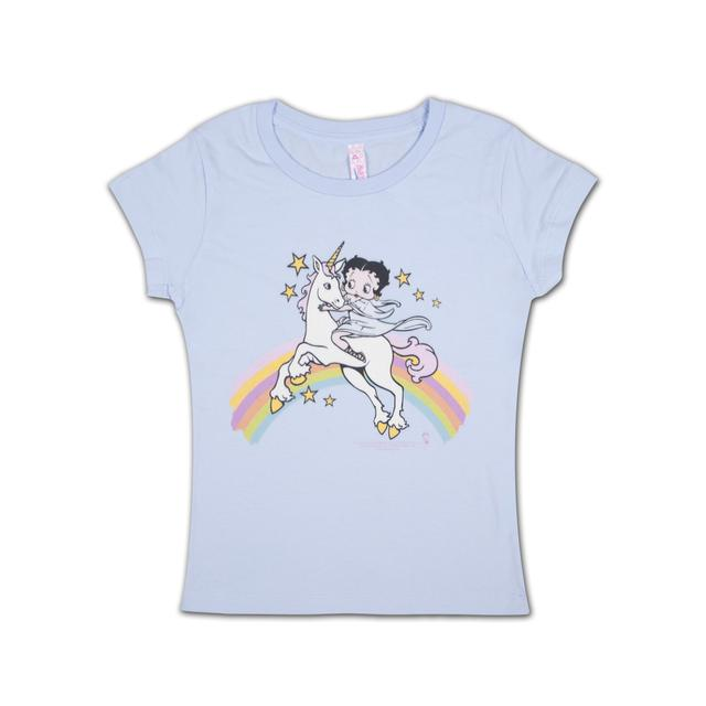 Betty Boop Rainbows and Unicorns Girls T-shirt