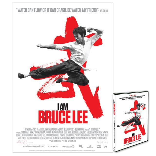 I Am Bruce Lee Lithograph /DVD Combo