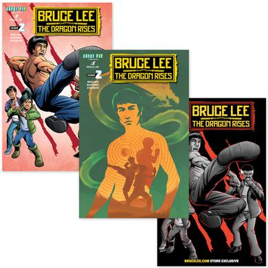 Bruce Lee The Dragon Rises Issue #2 – 3 Covers Bundle
