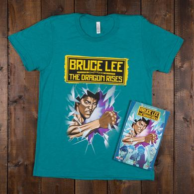 Bruce Lee The Dragon Rises Trade Paperback + T-Shirt Bundle
