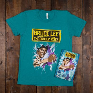 Bruce Lee The Dragon Rises Signed Trade Paperback + T-Shirt Bundle