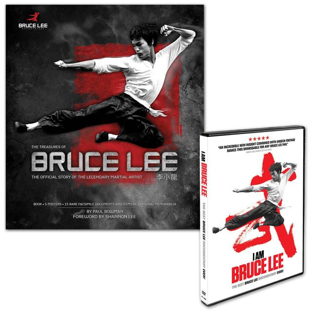 Treasures of Bruce Lee Book/I Am Bruce Lee DVD Bundle