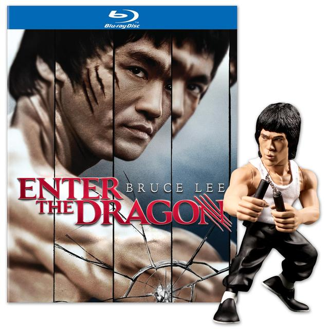 Bruce Lee Enter the Dragon 40th Anniversary BluRay and LTD Edition 6inch Tank & Nunchuck Figure Combo Pack