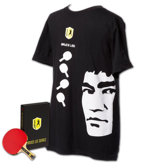 Bruce Lee Killerspin Practical Dreamer Table Tennis Paddle/T-Shirt Bundle